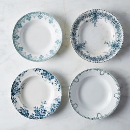 Mixed Vintage French Shallow Bowls (Set of 4)