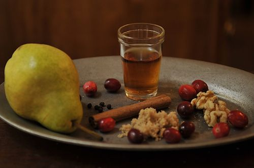 Pear, Brandy and Walnut Cranberry Sauce