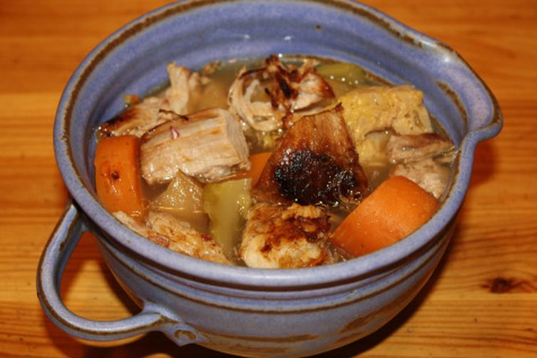 Pork Belly, Apple and Vegetable Stew with Apple Cider
