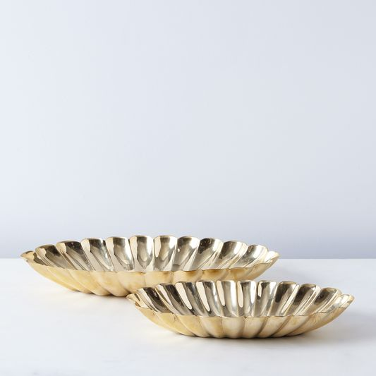 Food52 Scalloped Brass Bowls