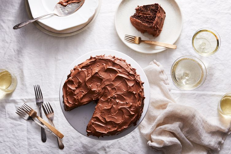 Anita Shepherd's Vegan Chocolate Birthday Cake With Super-Fluffy Frosting