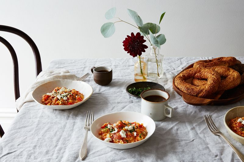 Menemen (Turkish Scrambled Eggs with Tomatoes and Peppers)