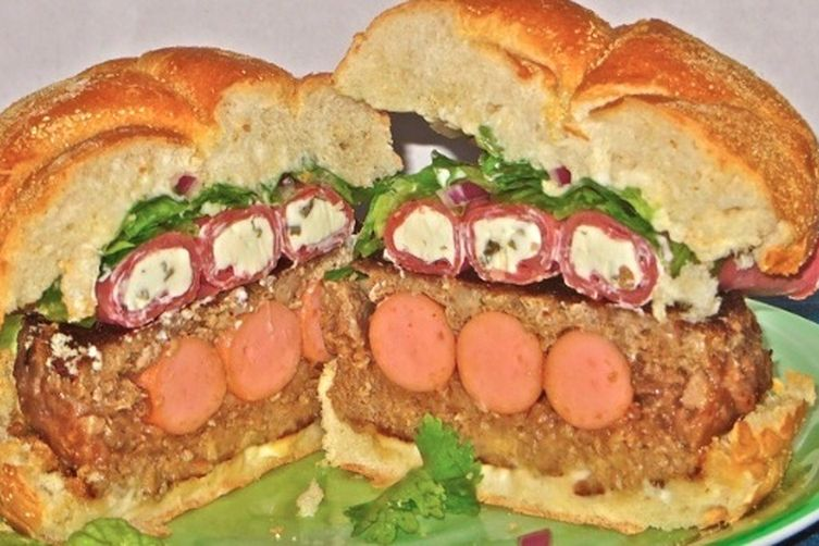 Big Apple Stuffed Burger
