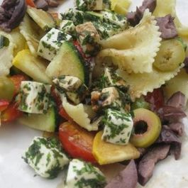 Mediterranean Country Pasta Salad with fresh Herbs