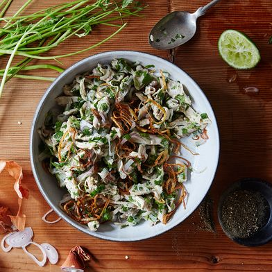 5ee0e886 1a21 4f7b 9e73 6bd0f549a74d  2016 0315 burmese chicken salad with coriander linda xiao 061 50 of Our Most Popular, Brightest Salads