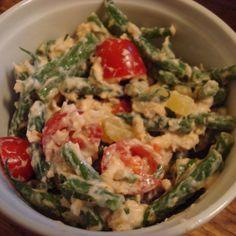 Salmon and haricot vert salad