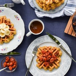 Savory or Sweet Cornmeal Waffles