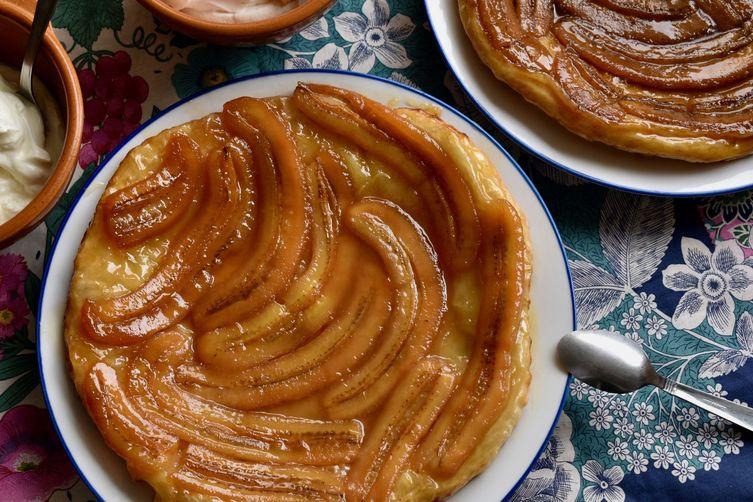 Caramelized Banana Tarte Tatin