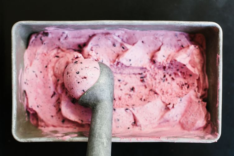 Lemon, Blackberry, and Poppy Seed Ice Cream