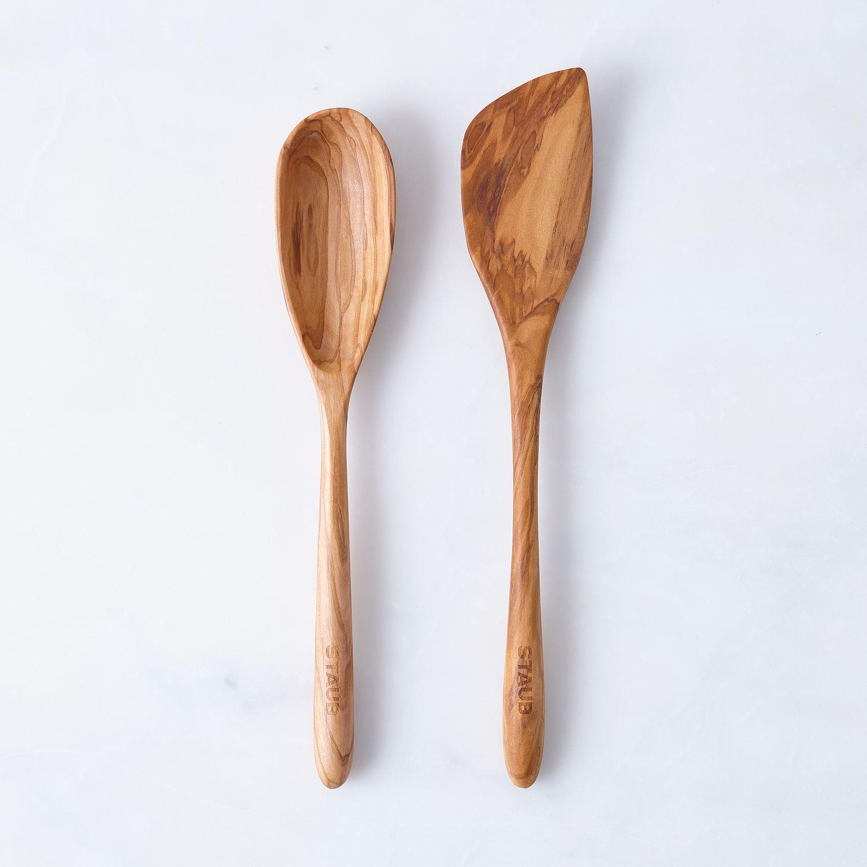 staub olive wood spoon  u0026 spatula set on food52