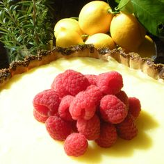 Meyer Lemon Rosemary Tart