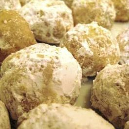 Orange Spice Russian Tea Cakes