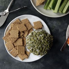 Hot Honey and Toasted Pumpkin Seed Cheese Ball