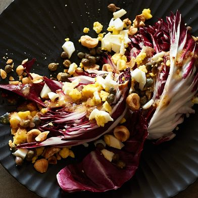 Radicchio Salad with Toasted Hazelnuts and Capers