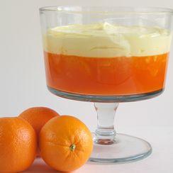 Mandarin Orange Jello with Lemon Pudding