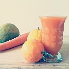 Carrot Orange Juice with Mango
