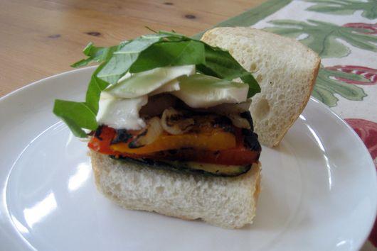 Fresh Mozzarella & Grilled Vegetable Sandwich