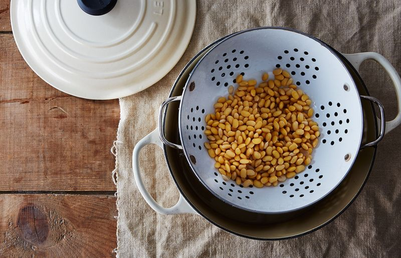 "Use a steamer—or a hacked ""steamer""—to cook beans 'til tender."