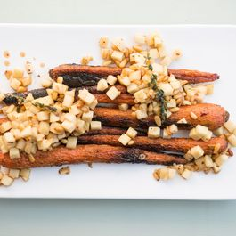 Charred Carrots with Apple Brown-Butter Vinaigrette