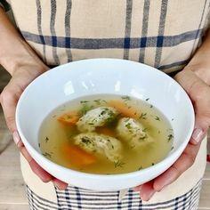 """Tsukune """"Matzah Ball"""" Soup"""