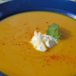 Smoky Butternet Squash and Apple Soup