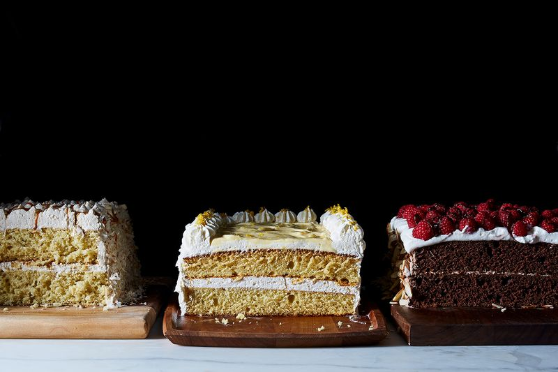 Lemon Sheet Cake Layer Cake