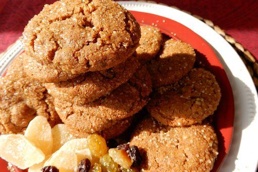 Ginger Molasses Spice Cookie with Pecans, Raisins & Espresso