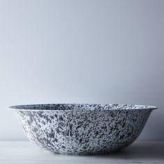 Grey Splatter Enamel Basin
