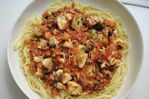 The (Not Barefoot) Contessa's Fish Pasta