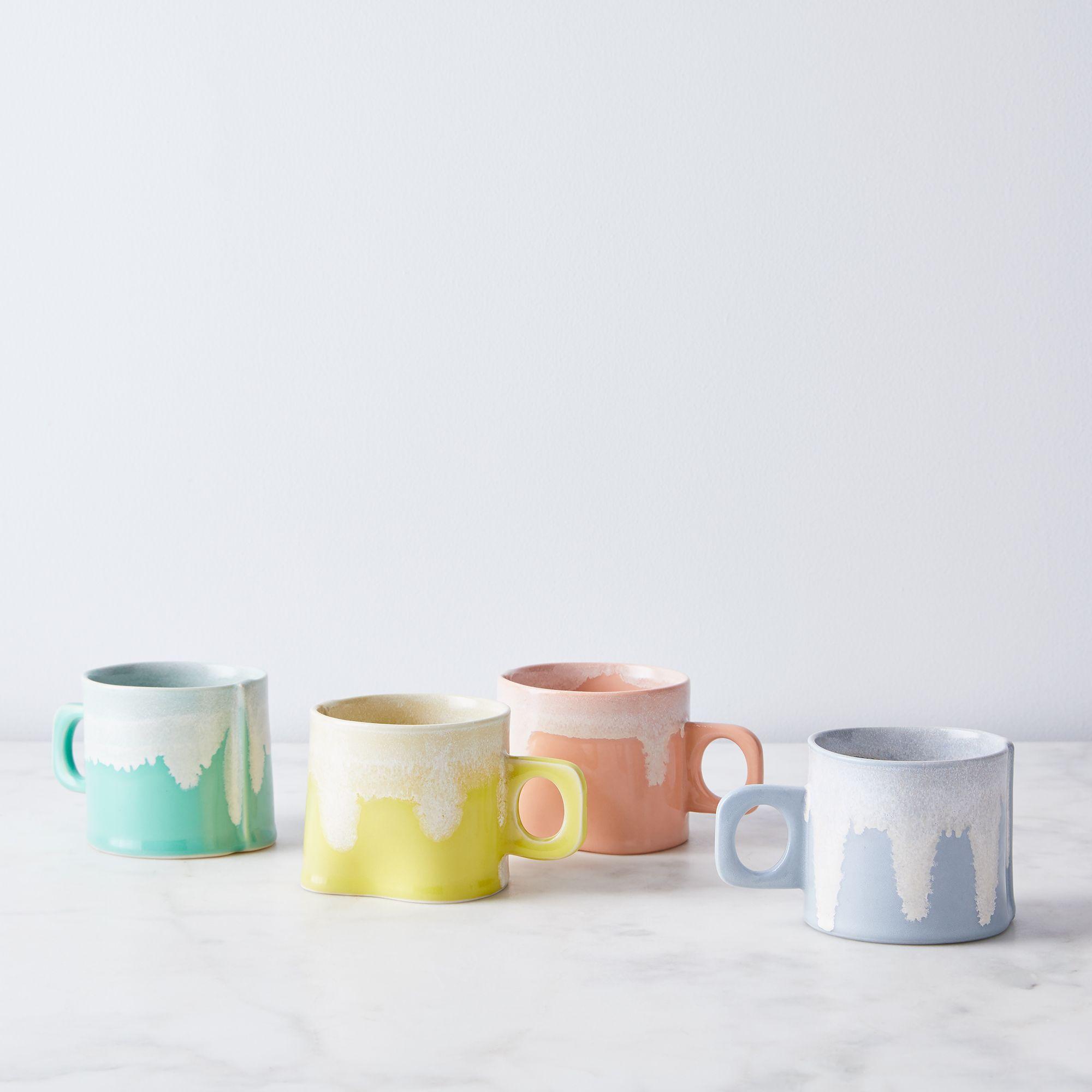 Wilcoxson Brooklyn Ceramics Handmade Color Drip Mug - Set of 4