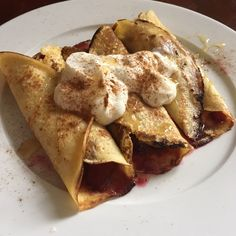 Buttermilk Crepes with Slow-Baked Apples