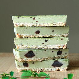 Green tea ice cream tart