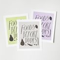 Foods Before Dudes Print