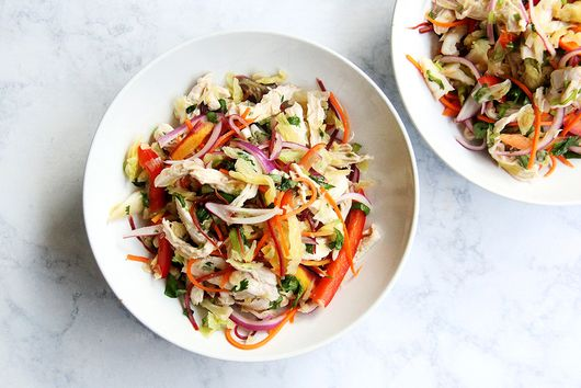 Thai-Style Slaw with (or without) Chicken