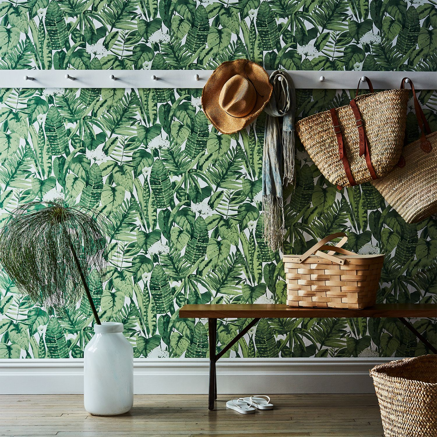 Self Adhesive Wallpaper Tropical Jungle On Food52