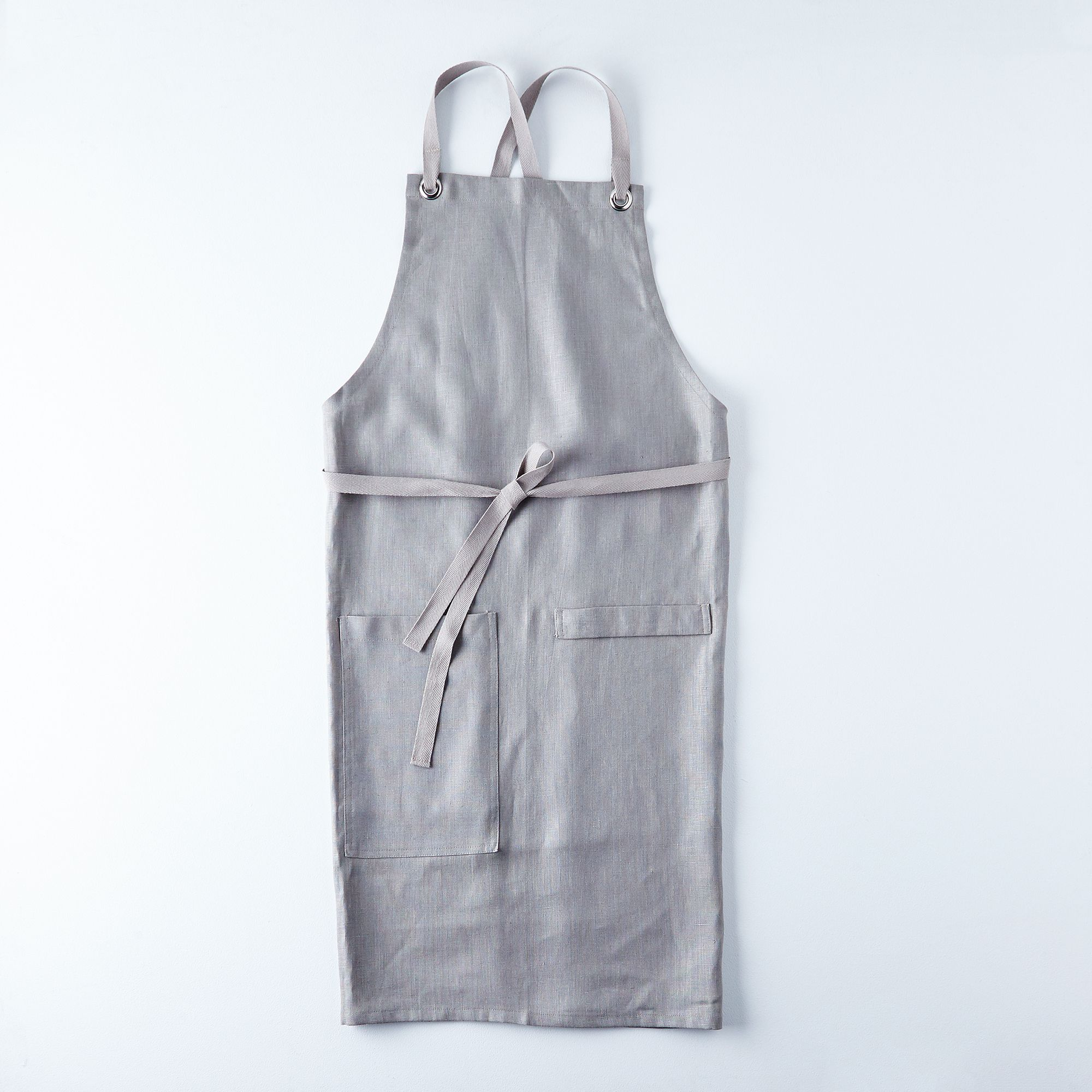 White apron meat company - Graphite Gray Cross Back Kitchen Apron With Graphite Gray Ties