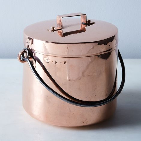 Vintage Copper Petite French Stockpot, Late 19th Century