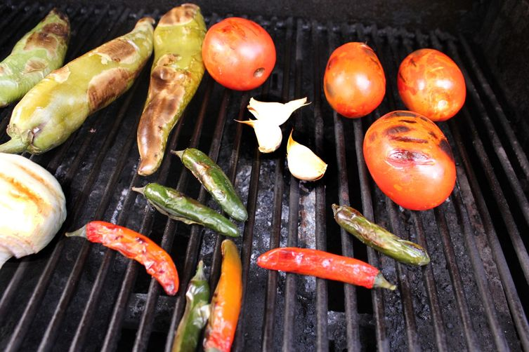 Fire-Roasted Hatch and Serrano Chile Salsa