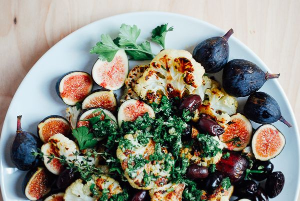 Roasted Cauliflower with Figs