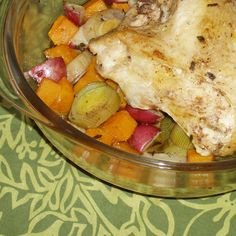 Roasted Chicken Butternut Squash, Potatoes  and Leeks