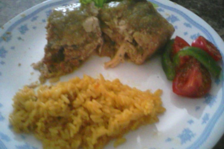 Chicken Stuffed with Poblano Peppers