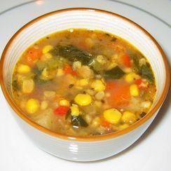 Spiced Corn Soup w/Corn Husk Stock