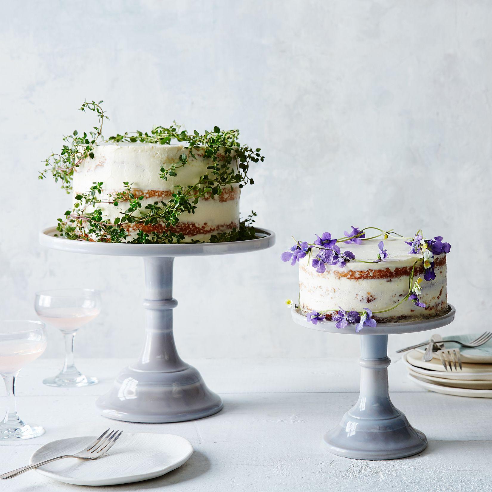 Decorative Cake Stands Grey Swirl Glass Cake Stand On Food52