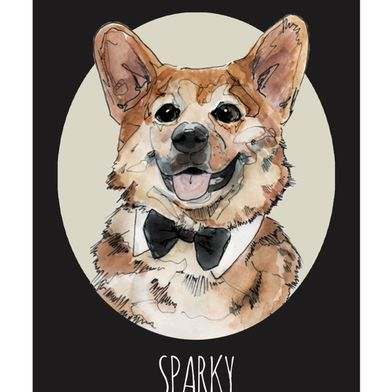 Custom Dog Portrait, by Doggy Arts