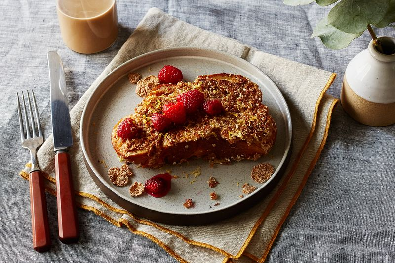 Sesame-Coconut Crunchy French Toast