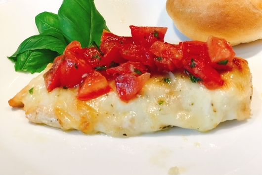 Cheesy Bruschetta Chicken