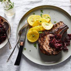 Berry-Marinated Pork Chops