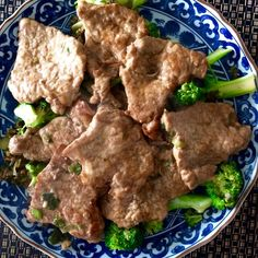 Pan Fried Pork Chops with Scallions and Broccoli