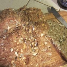 Soda bread with walnuts and rolled oats