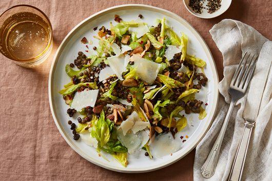 Celery and Lentil Salad with Tossed Salsa Verde